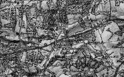 Old map of Crawley Down in 1895