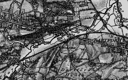 Old map of Crayford in 1896