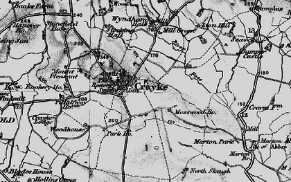 Old map of Crayke in 1898