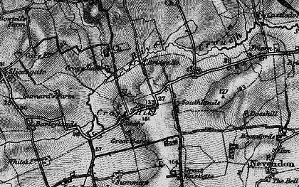 Old map of Crays Hill in 1896