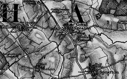 Old map of Creaton in 1898