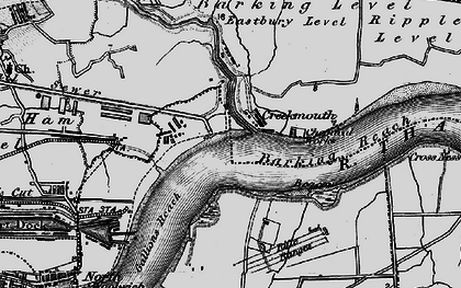 Old map of Barking Creek in 1896
