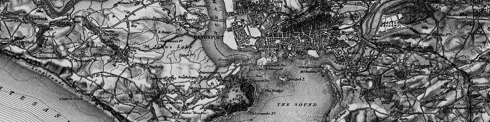 Old map of Cremyll in 1896