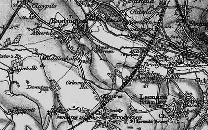 Old map of Cress Green in 1897
