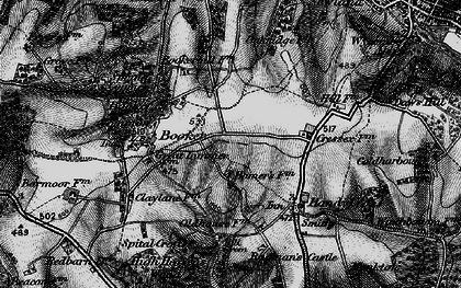 Old map of Cressex in 1895