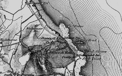 Old map of Cresswell in 1897