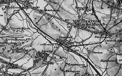 Old map of Leacroft Hall in 1897