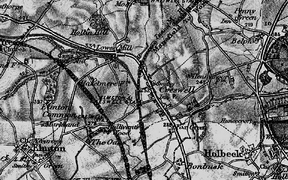 Old map of Creswell in 1899