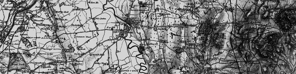 Old map of Wetreins Green in 1897