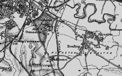 Old map of Crewton in 1895