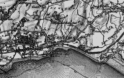 Old map of Criccieth in 1899