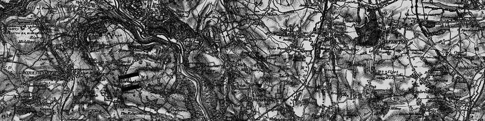 Old map of Crich in 1896