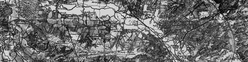 Old map of Yateley Common in 1895