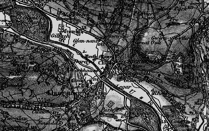 Old map of Crickhowell in 1897