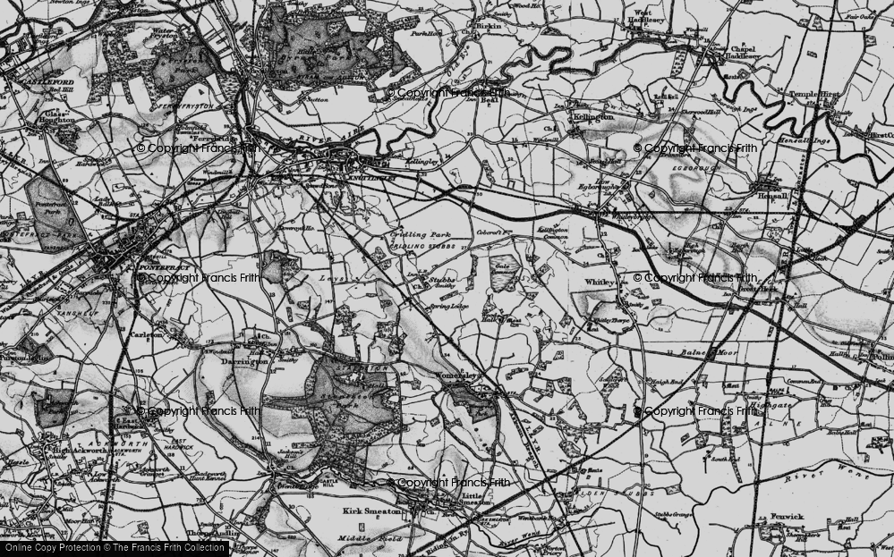 Old Map of Historic Map covering Aire and Calder Navigation (Knottingley and Goole Canal) in 1895