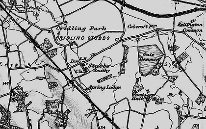 Old map of Aire and Calder Navigation (Knottingley and Goole Canal) in 1895