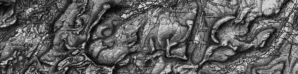 Old map of Afon Gorddinan in 1899