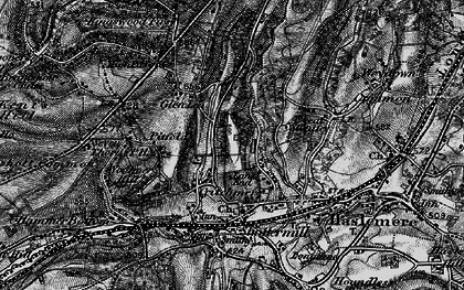 Old map of Critchmere in 1895