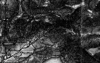 Old map of Leaps Beck in 1897
