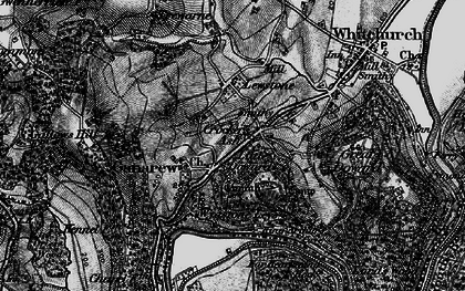 Old map of Wyastone Leys in 1896