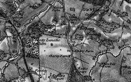 Old map of Wickham Common in 1895