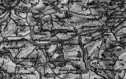 Old map of Crockernwell in 1898