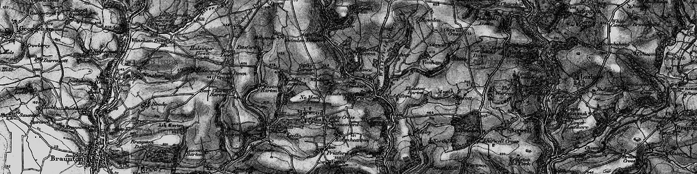 Old map of Whitefield Barton in 1898