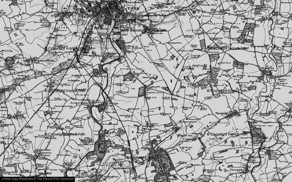Old Map of Crockey Hill, 1898 in 1898