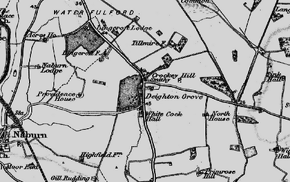 Old map of Link Hall in 1898