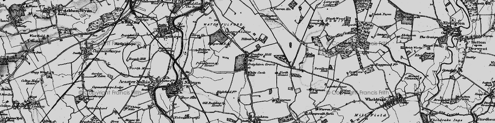 Old map of Wigman Hall in 1898