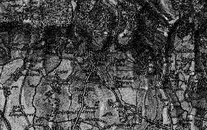 Old map of Crockham Hill in 1895