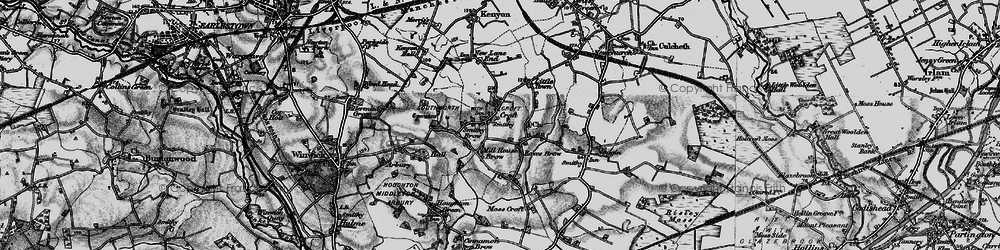 Old map of Croft in 1896