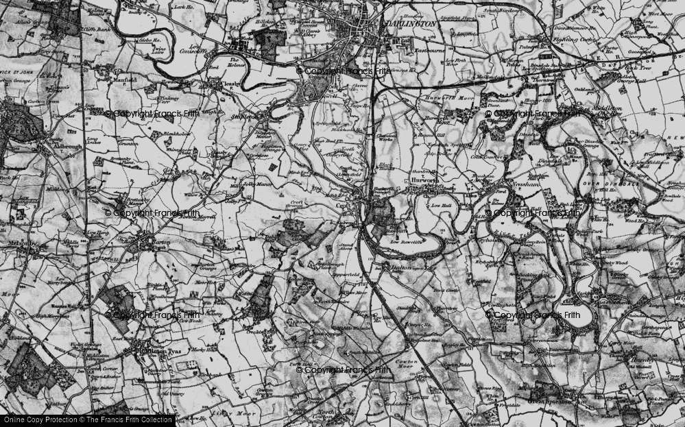 Old Map of Croft-on-Tees, 1897 in 1897