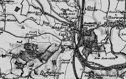 Old map of Croft-on-Tees in 1897