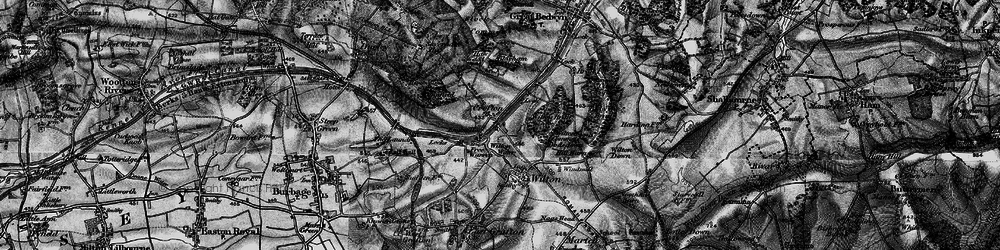 Old map of Wilton Brail in 1898