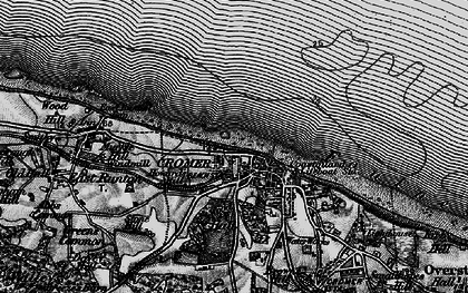 Old map of Cromer in 1899