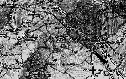 Old map of Cromer-Hyde in 1896