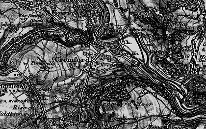 Old map of Cromford in 1896