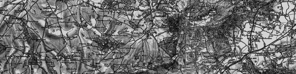 Old map of Crondall in 1895