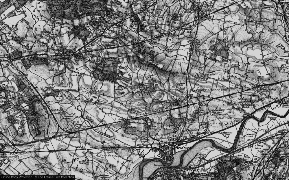Old Map of Cronton, 1896 in 1896
