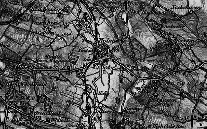 Old map of Crook in 1898