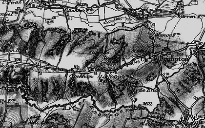 Old map of Crookham in 1895