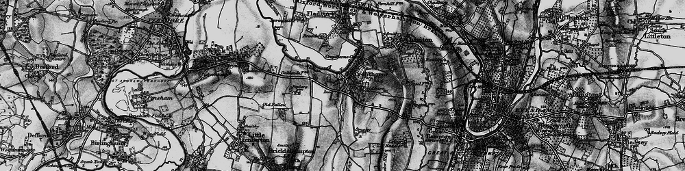 Old map of Cropthorne in 1898