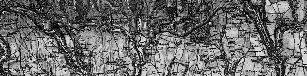 Old map of Whitethorn in 1898