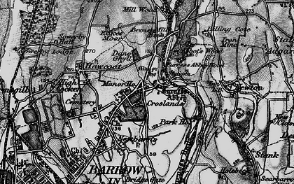 Old map of Furness Abbey in 1897