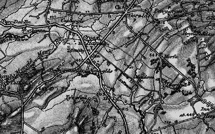 Old map of Cross Hands in 1897