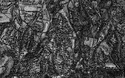 Old map of Cross Keys in 1895