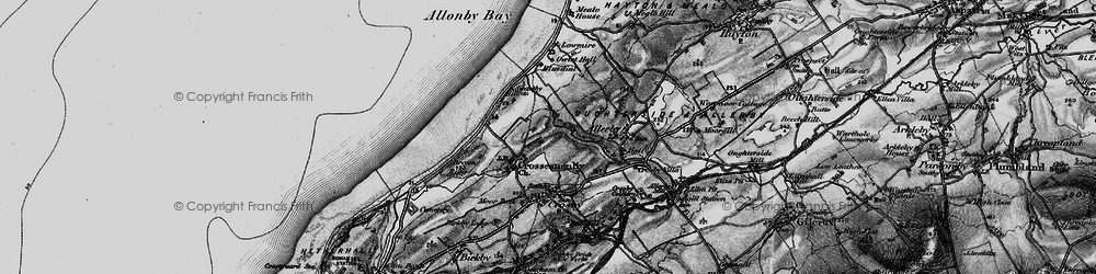 Old map of Allonby Bay in 1897