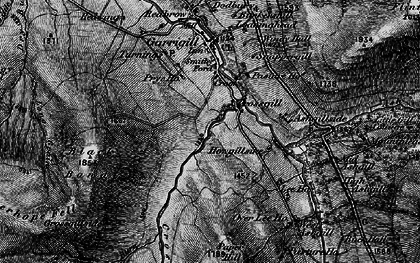 Old map of Alston Moor in 1897
