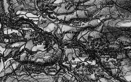 Old map of Baines Cragg in 1898